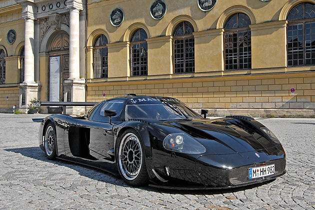 Maserati MC12... My Maserati does 185...I lost my license now I don't drive..