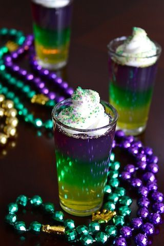 Mardi Gras Jello Shots | Raised on a Roux tandra these would be great for the 4th!