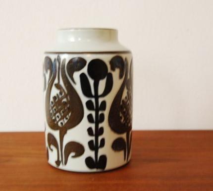 Fajance vase by Royal Copenhagen and designed by Kari Christensen. Denmark, 1960s.