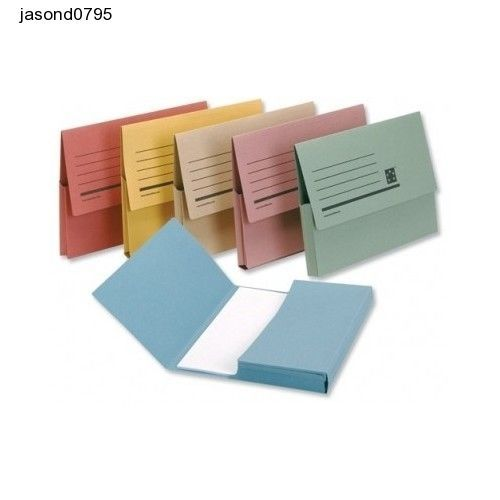 Folder Document Wallet Colors Office Work Desk Computer A4 Assorted Pack of 50