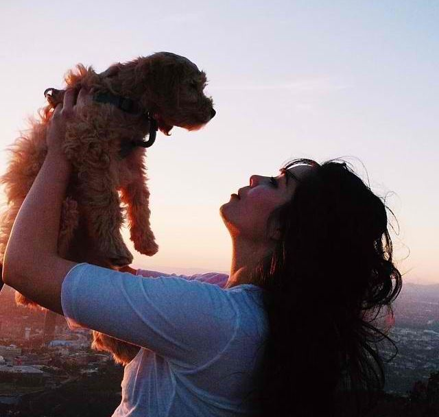 My baby and me watching the sun set