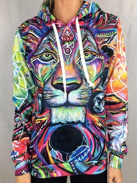 Colour Me Crazy Hoodie // Unisex Jacket // Hoodie // African Print // Patterned Hoodie // Shirt Jacket // Festival Jacket // African top mJpXov