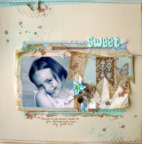 #papercraft #scrapbook #layout Sweet - Two Peas in a Bucket