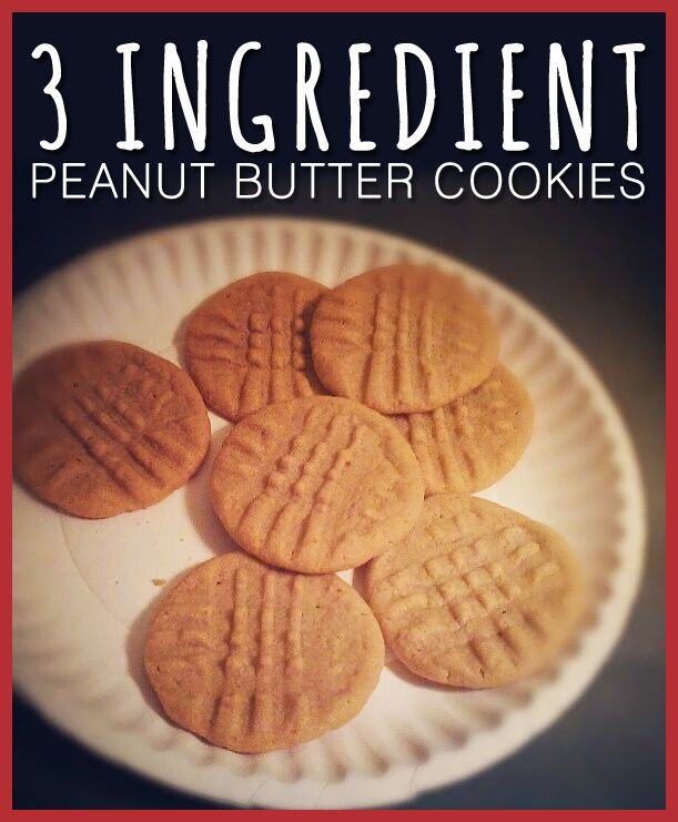 Simple Dessert that I make often. SO EASY. 3 Ingredient Peanut Butter Cookies (NO FLOUR!)