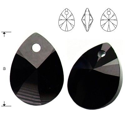 6128 Mini Pear 8mm Jet 5 pieces  Dimensions: 8,0mm Colour: Jet 1 package = 5 pieces