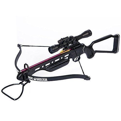 Hunting Crossbow Archery Bow 150 Lb Black Metal  4x20 Scope 12 Bolts 180 80 50 #Archery