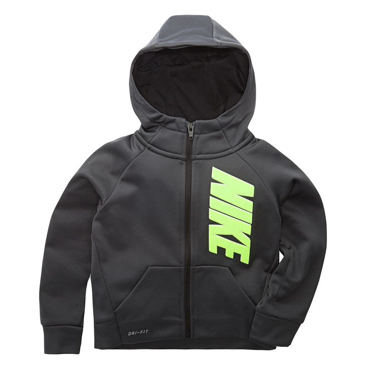 Toddler Boy Nike Zip Hoodie, Size: 3T, Grey Other