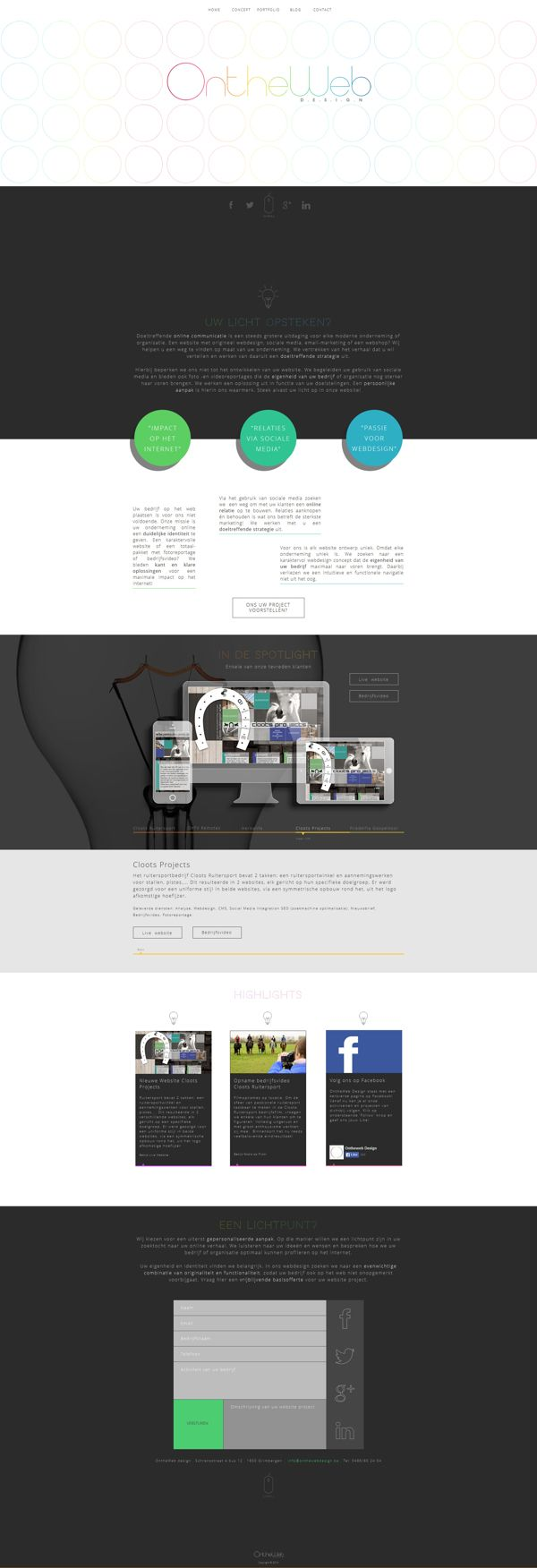 OntheWeb Design by Tom Mualaba, via Behance