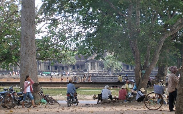 A pleasant spot to have lunch near Angkor Wat.