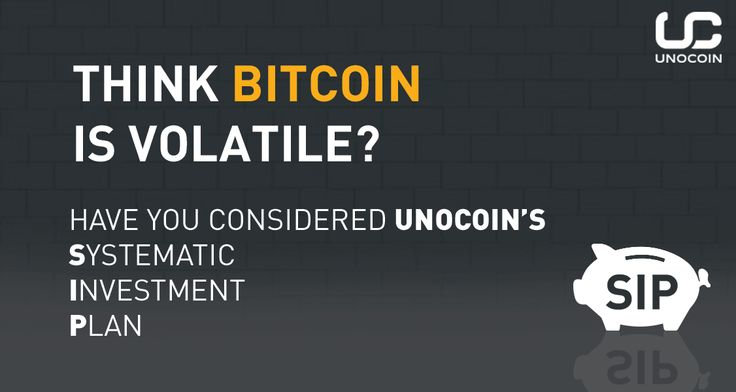 Think #bitcoin is volatile? Have you considered Unocoin Systematic Investment Plan??