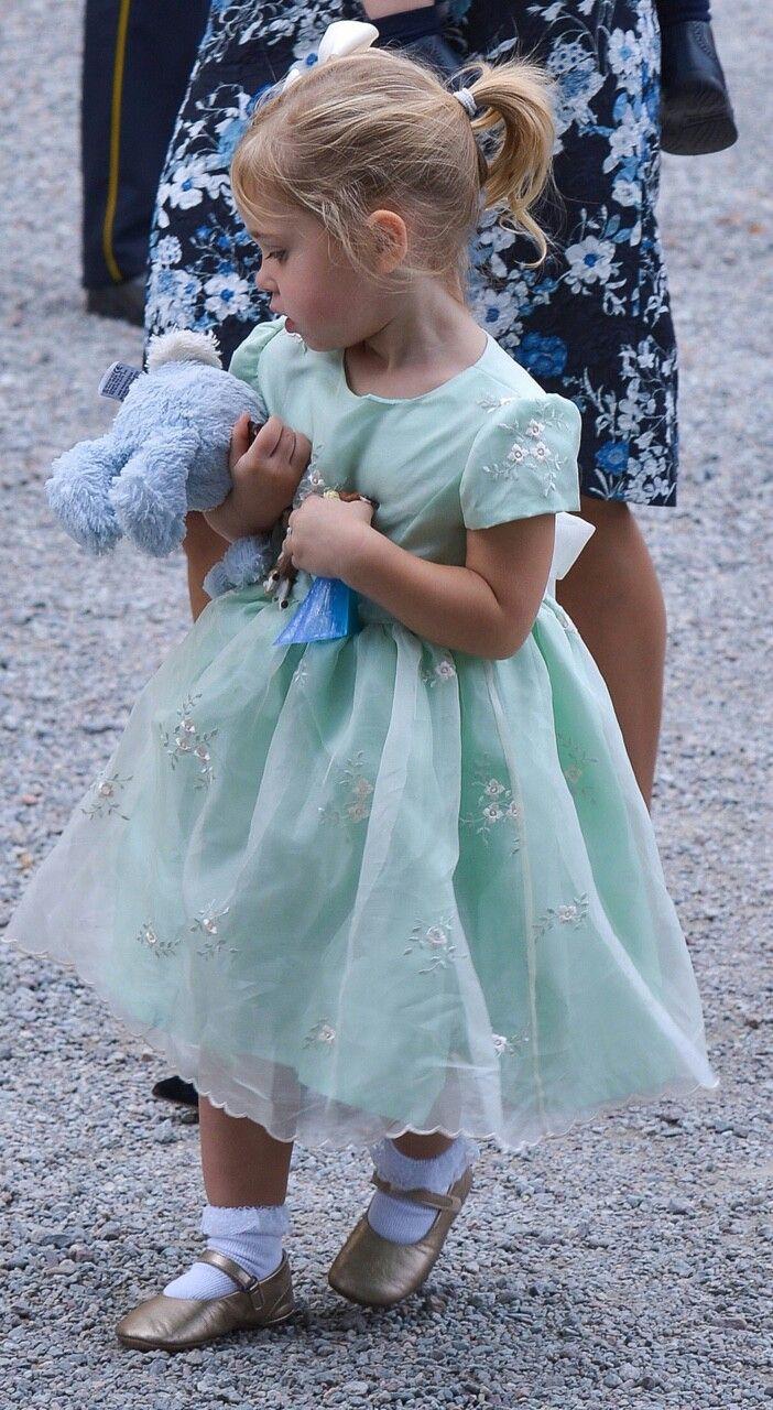 Princess Leonore of Sweden during the christening of her cousin Prince Alexander of Sweden at Drottningholm Palace Chapel on September 9, 2016 in Stockholm, Sweden.