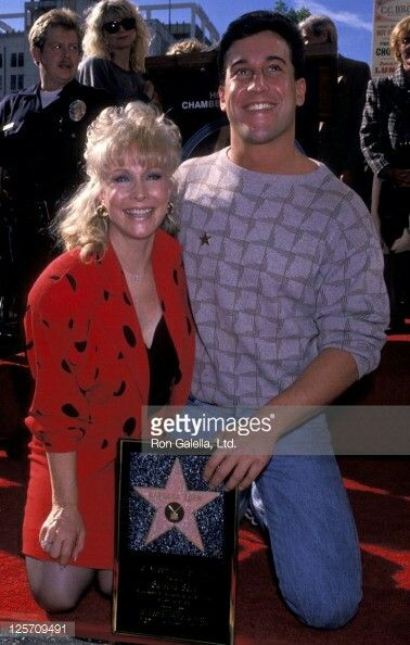 Barbara Eden getting her star in 1988 with late son ...