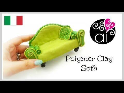 Polymer clay sofà | Tutorial Cake Topper Fimo | Miniatura Divano - YouTube