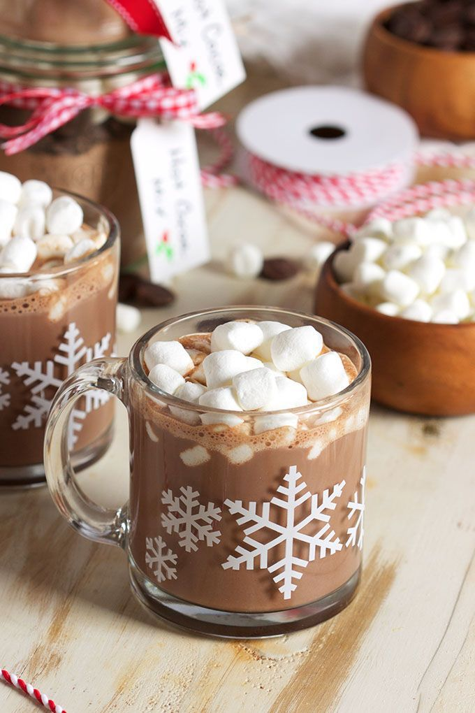 Super easy to make homemade Hot Cocoa Mix recipe is the BEST EVER because of one secret ingredient that puts it over the top. Great for holiday gifts! | @suburbansoapbox