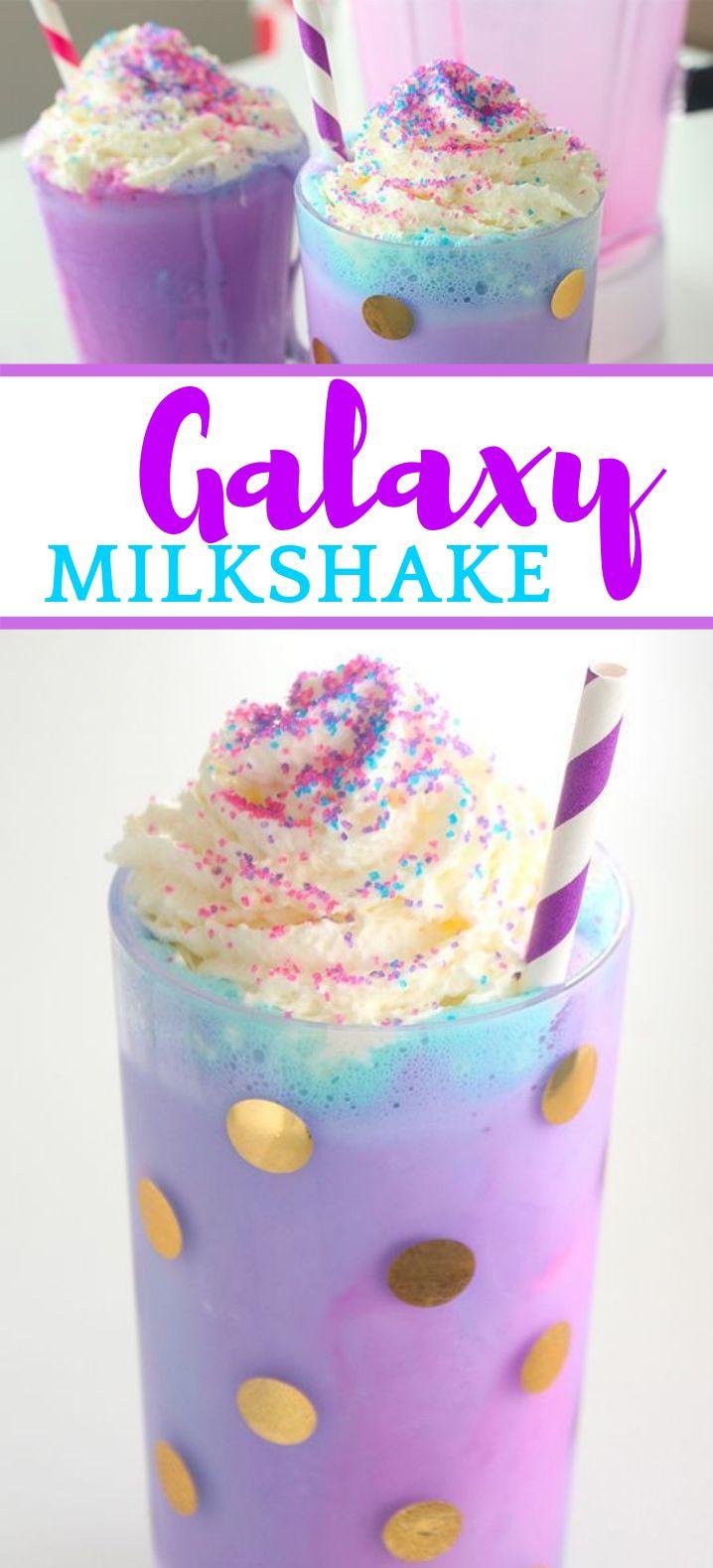 Galaxy Milkshake #Drinks #Vanilla