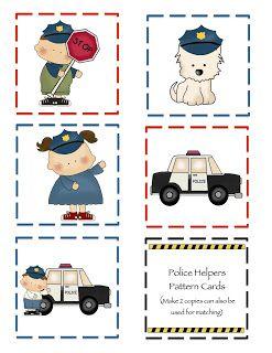 Preschool Printables: Police
