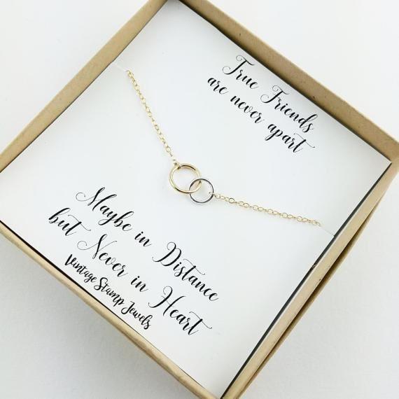 Best Friend Gift Best Friend Necklace Eternity Necklace