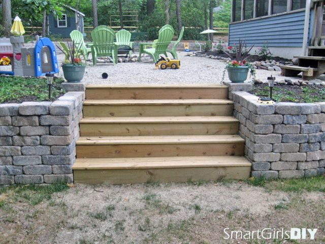 Building Retaining Wall Stairs In 2020 Landscaping Retaining Walls Backyard Retaining Walls Diy Retaining Wall