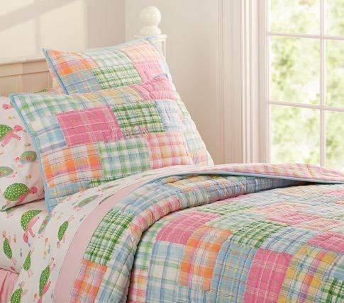 Madras Quilt Bed For Girls Room Girls Comforter Sets