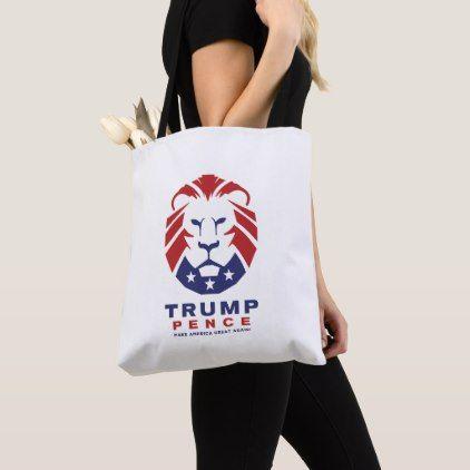 MAGA Trump Pence Lion head Logo Tote Bag - logo gifts art unique customize personalize
