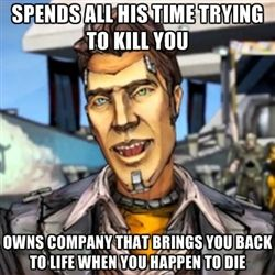 Borderlands 2 Handsome Jack... I always found this funny :)