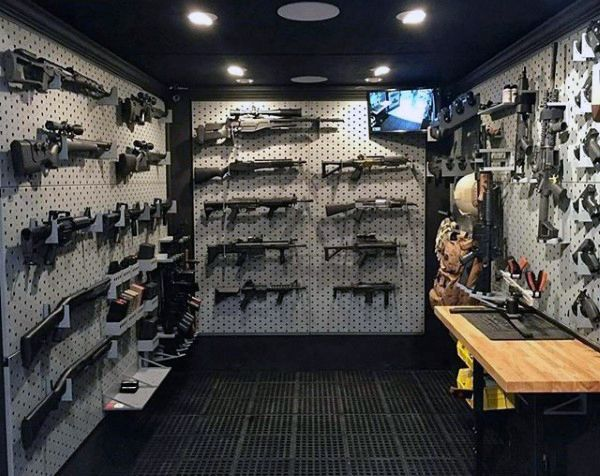 Modern Mens Armory Gun Room Ideas Awesome Rooms Pinterest Guns And