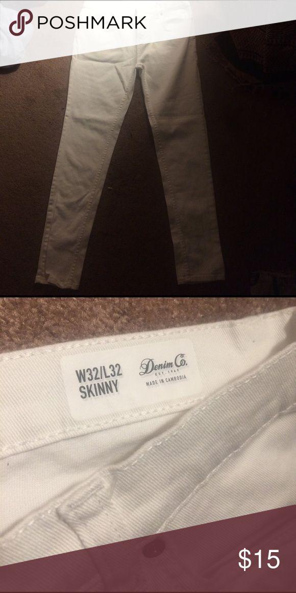 Guys white skinny jeans Men's appeal Jeans Skinny