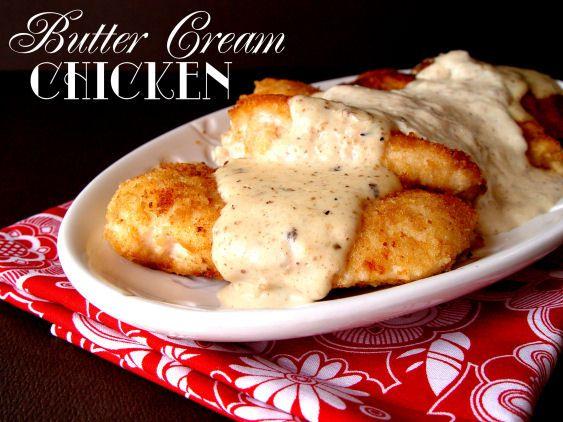 Butter Cream Chicken from Jamie Cooks It Up! #chickendinner #jamiecooksitup #dinner
