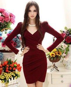 Lindos vestidos color vino 1