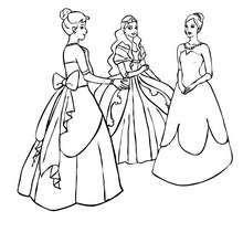 Dibujo de vestidos de princesas para colorear - Dibujos para Colorear y Pintar - Dibujos de PRINCESAS para colorear - Dibujos para pintar PRINCESAS