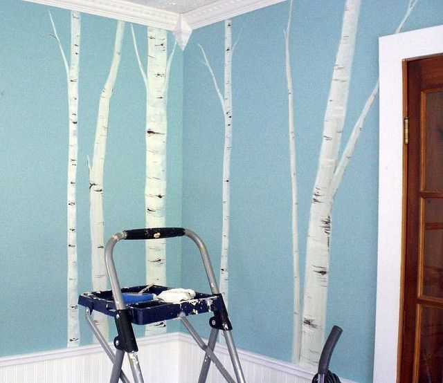 17 best ideas about birch tree mural on pinterest babies for Birch trees mural