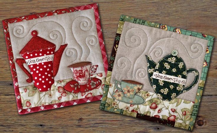 Tea trivets by Patchwork Pottery.
