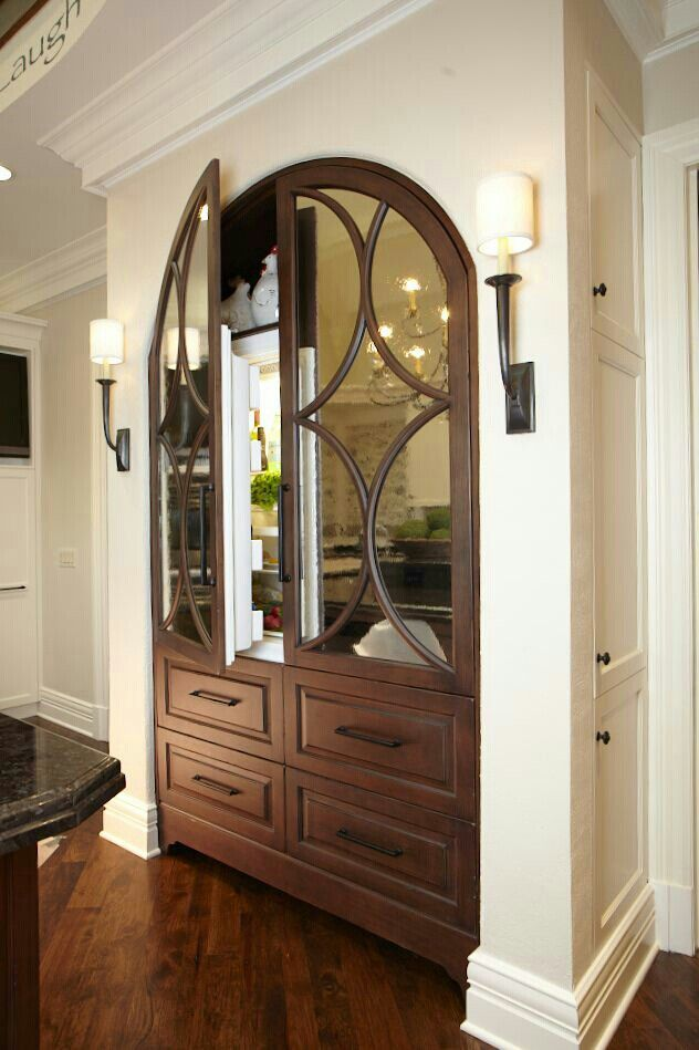 The best armoire or hutch look for a refrigerator. Ever.