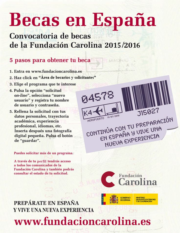 Anuncio becas 2015-© Fundación Carolina