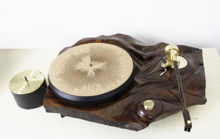 I built my old man a turntable for his 60th made of sculpted claro walnut steel brass and striped ebony. (xpost from r/vinyl) http://ift.tt/2onTypX