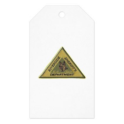 Riverside County Sheriff K-9 Gift Tags - law gifts lawyer business diy cyo personalize