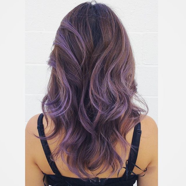 Metallic purple hair + balayage || @chiyukihair on Instagram ✂️