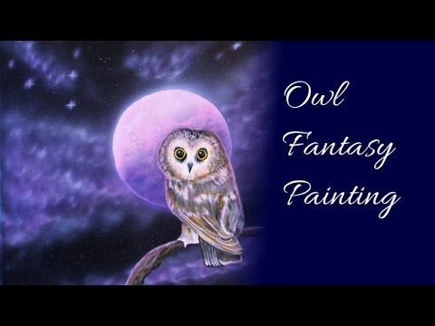 Owl Fantasy Painting - Acrylic Painting & Airbrush Speed Painting