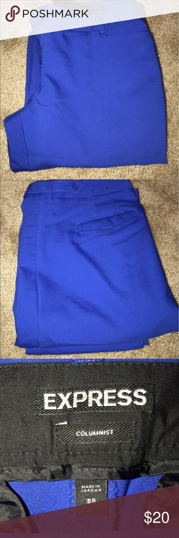 Express cobalt blue slacks Size 8R bootcut slacks. Great fit. Curve hugging slacks. Very comfortable. Express Pants Trousers