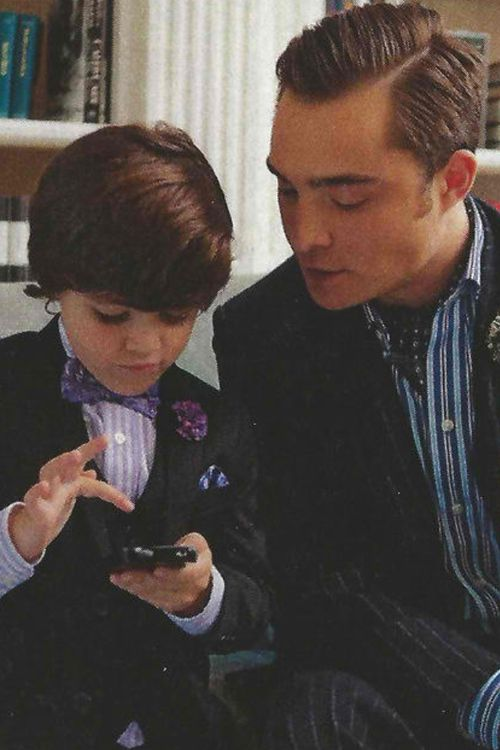 chuck and baby bass! ♥