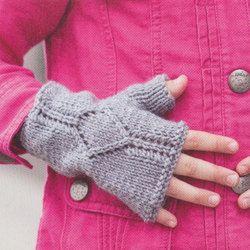 Gebreide kinder wanten zonder vingers.