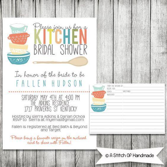 Kitchen Bridal Shower Invitation  Printable by AStitchOfHandmade