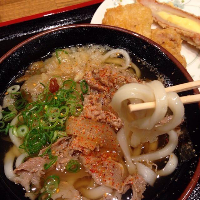 #tokushima #japon #udon - 25件のもぐもぐ - 肉うどん(小)、チーズちくわ天、鶏もも天 by maixx ใหม่