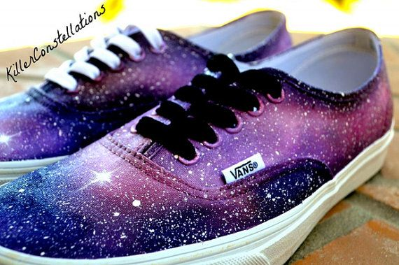 WEEKEND SALE Custom Painted Galaxy Shoes by KillerConstellations, $99.00