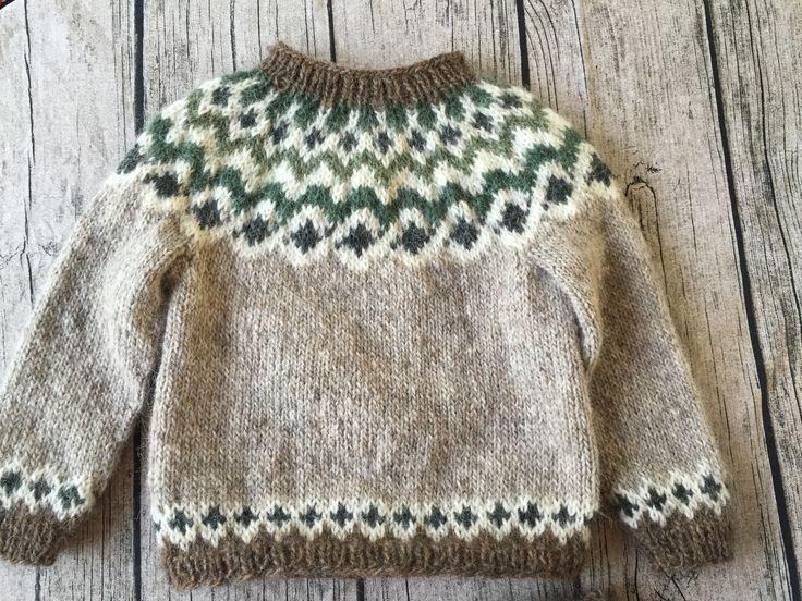 Sweater i islandsk uld - str. 2 år