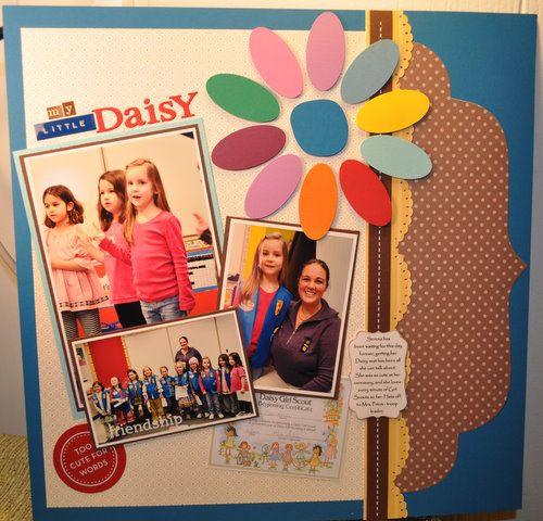 Girl Scouts 12 x 12 Scrapbook Layout by craftkrazy - Cards and Paper Crafts at Splitcoaststampers