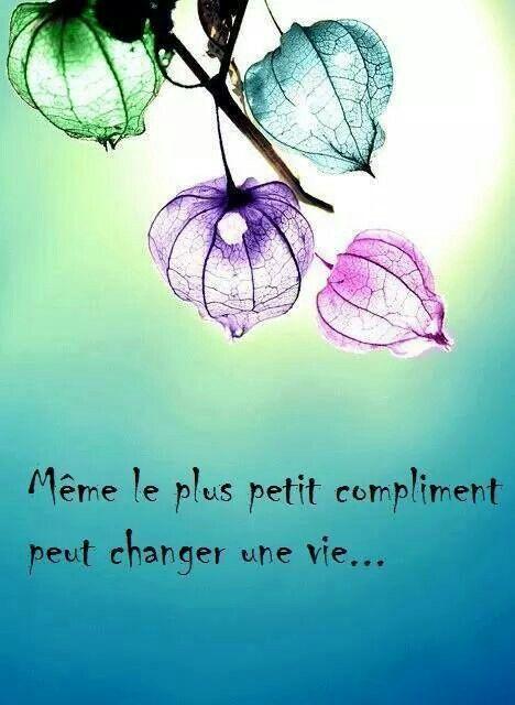 Même le plus petit compliment...