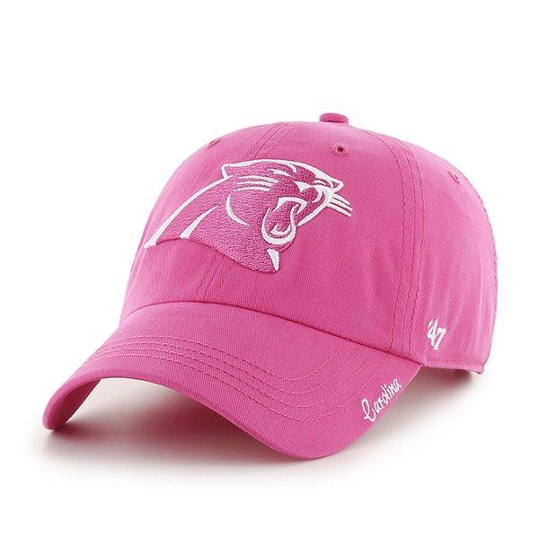 Carolina Panthers Women s 47 Brand Pink Clean Up Hat  292abce1b