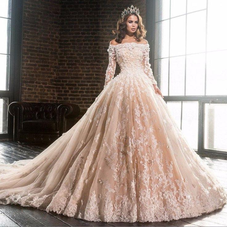 2017 Neu Spitze Brautkleider Abendkleid Langarm Hochzeitskleider Ballkleid | Kleidung & Accessoires, Damenmode, Kleider | eBay!