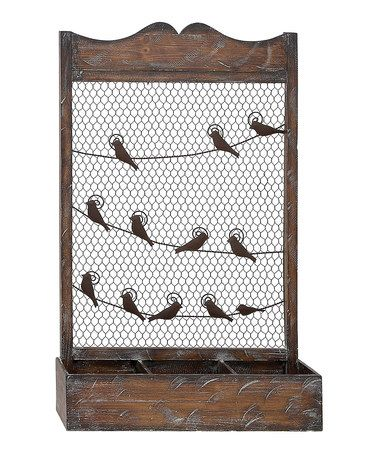 Take a look at this Birds on a Wire Wall Shelf by UMA Enterprises on #zulily today! Great organizer for a garden shed. Put veggie and flower lists by rows in your garden for easy planting and caring.